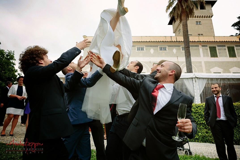 lancio della sposa ricevimento matrimonio Genova Palazzo della Torre