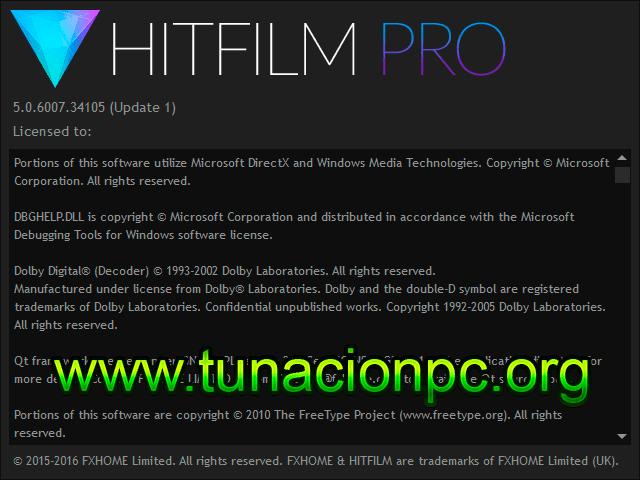 HitFilm Pro 2017 v5.0.6007.34105 Imagen