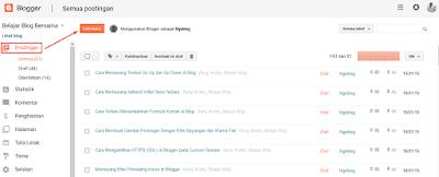 Cara Membuat Artikel Postingan Baru di Blogger