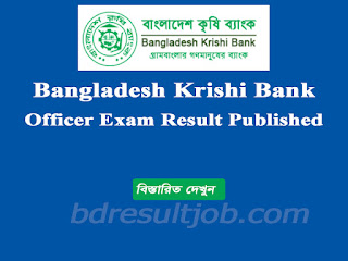 Bangladesh Krishi Bank MCQ Exam Result