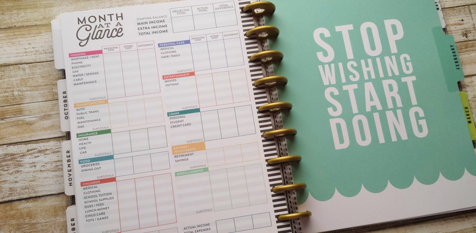 Plan with me: the Create 365 Happy Planner review