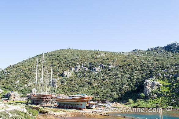 Bozburun'da gulet inşa eden tersanelerden biri, Marmaris
