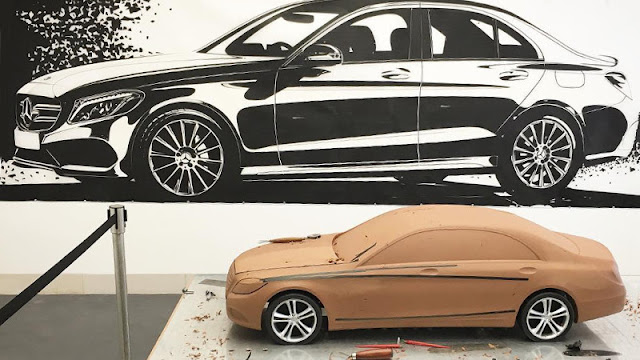 Clay Model Mercedes-Benz