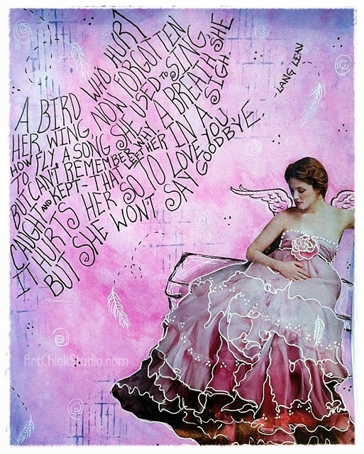 She Won't Say Goodbye Art Journal Page