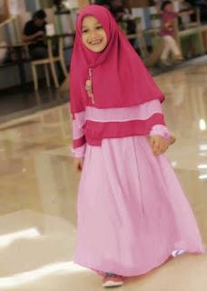 Baju muslim anak perempuan syar'i