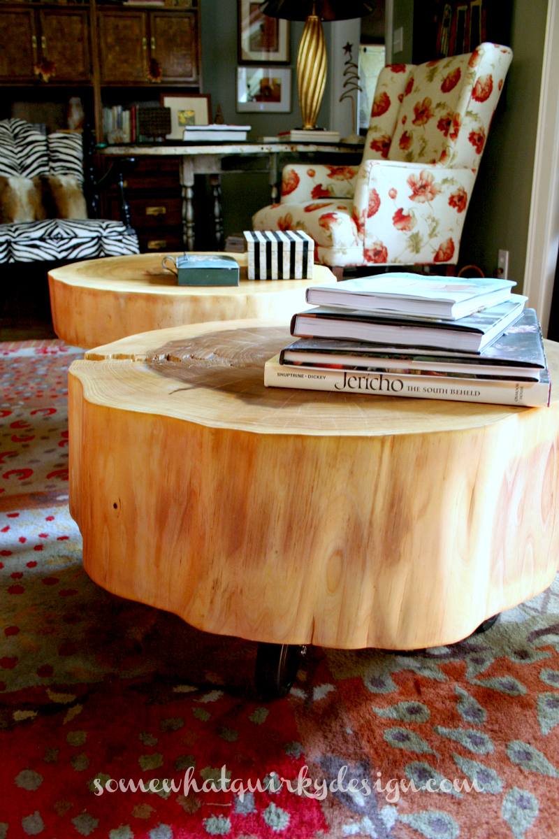 Somewhat Quirky: How to Make A Tree Round Table