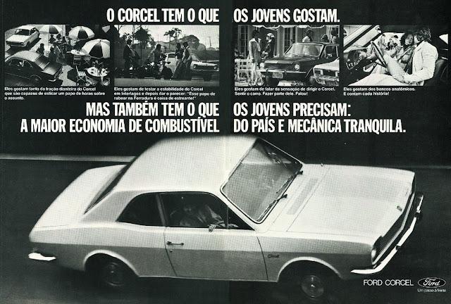 Campanha da Ford para promover o Corcel junto ao público jovem nos anos 70