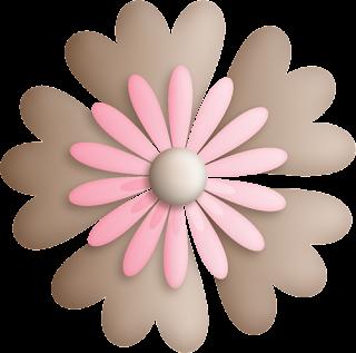 Flores del Clipart Dulce Osita con Bebé.