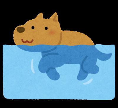 犬かきのイラスト