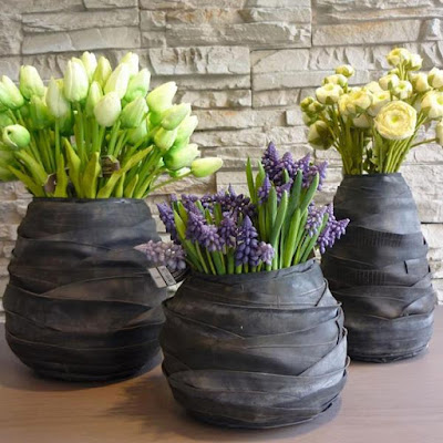 Rubber Ovale Vases