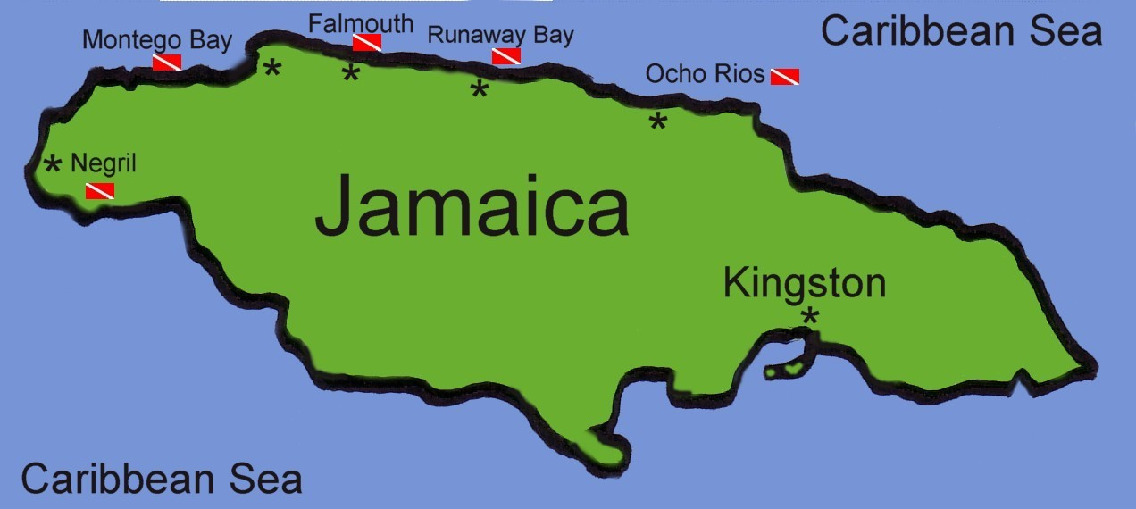 jamaican map