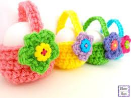 Pascuas canastas tejidas crochet