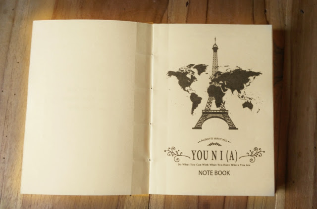 Halaman awal You N I (A) handamade notebook Eifeel Tower and World Traveling
