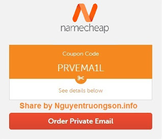 Namecheap Coupon 2019 - Giảm giá 25% Private Email Hosting