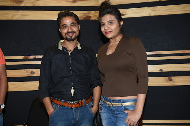 5. Mayank Tiwari (Producer & Lyricists), and Ritu Pathak (Singer) during song recording CRAZY BALAM