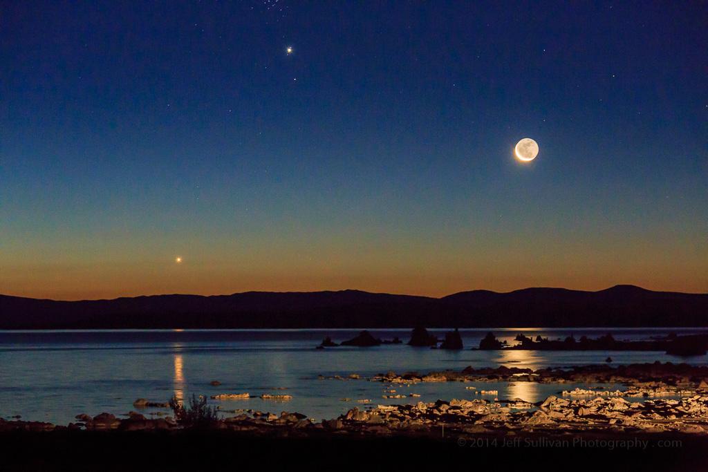 Mono Lake sunrise moon rise by Jeff Sullivan