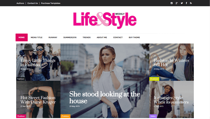 Life-style Magazine Blogger Template