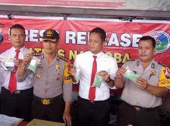 Polisi mengungkapkan kasus peredaran narkoba yang dikendalikan napi di Lapas Lobusona Labuhanbatu.