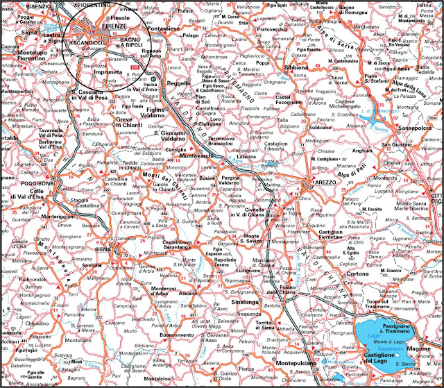 Road map Florence region