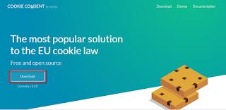 pasang notif cookie di blog dengan mudah