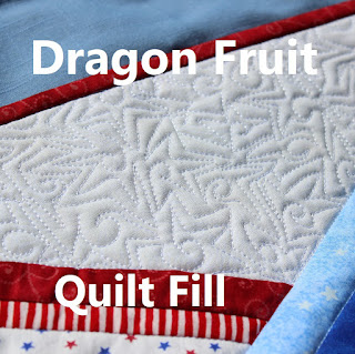QUILT FILL-FREEMOTION QUILTING-DRAGON FRUIT-SWIRLS AND STARS