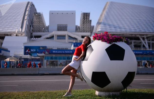 Foto Suporter Cantik di Piala Dunia Rusia 2018