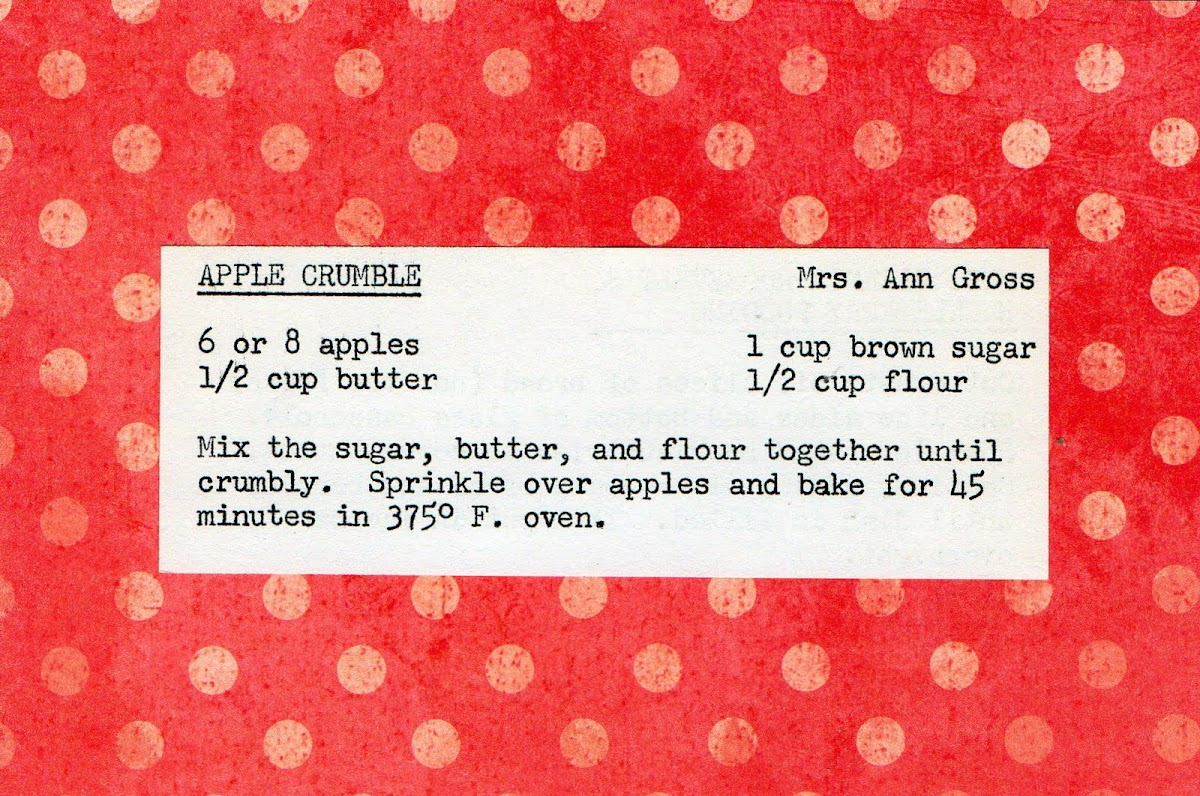 Apple Crumble (quick recipe)