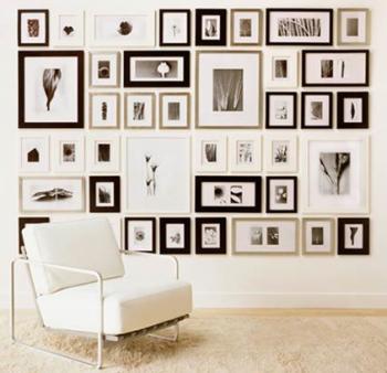 The satchel diy photo frame wall for Cornici nere ikea