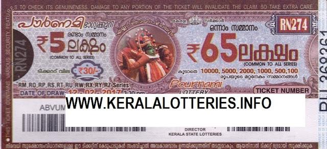 Full Result of Kerala lottery Pournami_RN-77