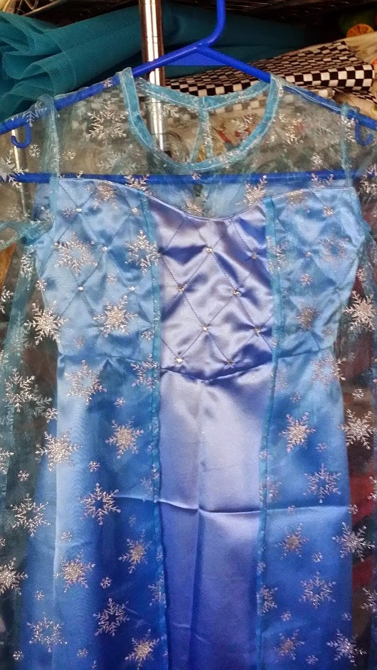 Ice Queen dress for granddaughter Alanna