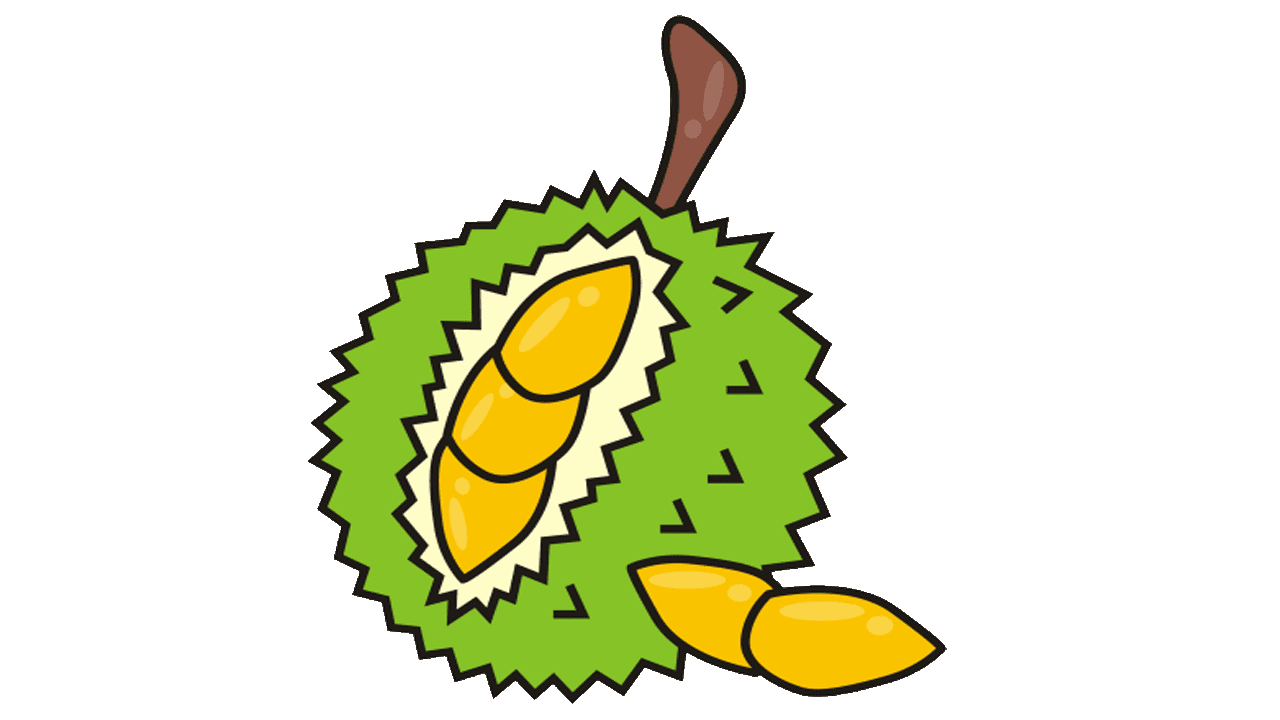 Coloring pages hard - 10 Durian Fruit Royalty Free Clipart Fruit Names A Z