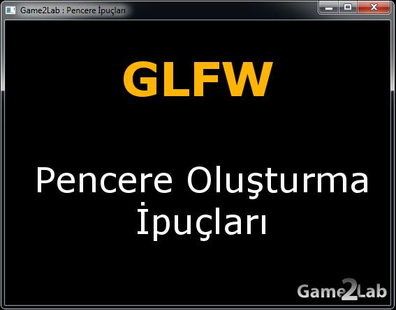 Glfw Window creation hints