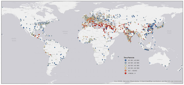 Researchers map 6,000 years of urban settlements