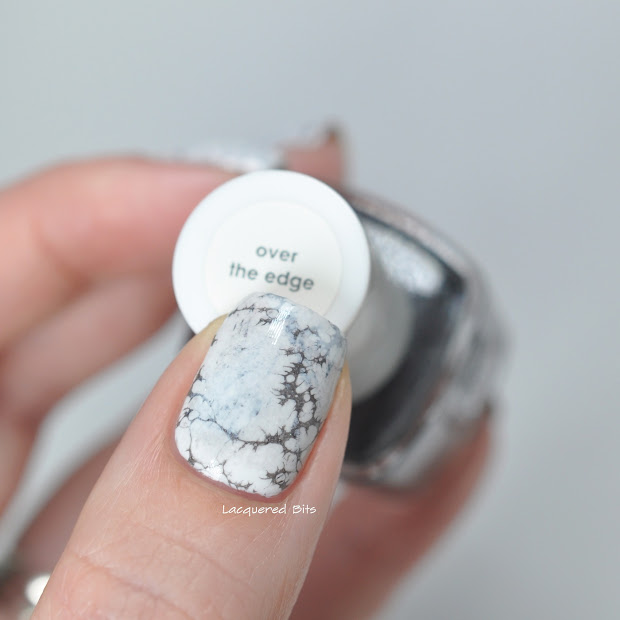 white marble nails - lacquered