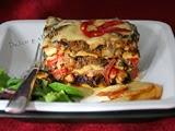 Lasaña  de Berenjena con Carne al Curry