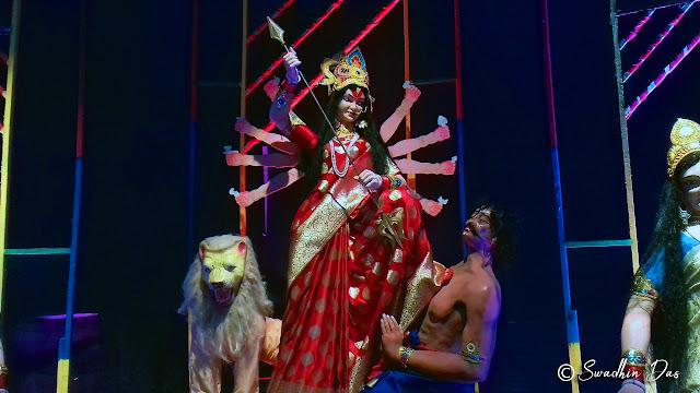 Durga Puja 2018 Lake Town Netaji Sporting Durga Idol