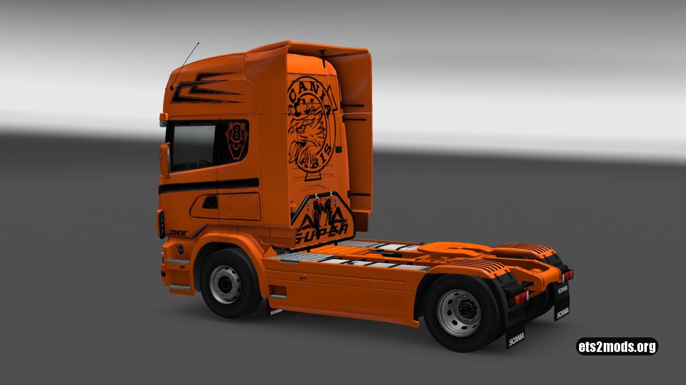 Scania 4 Orange Beast Skin