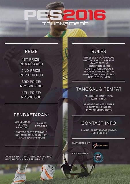 Kompetisi PES 2016 di Bandung Maret 2016
