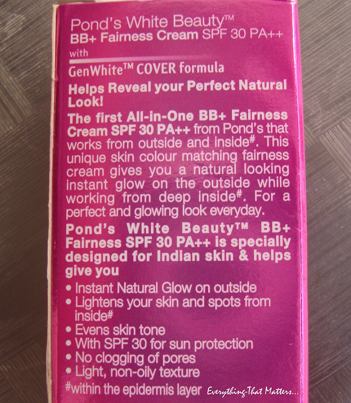 Pond's BB Cream Review India