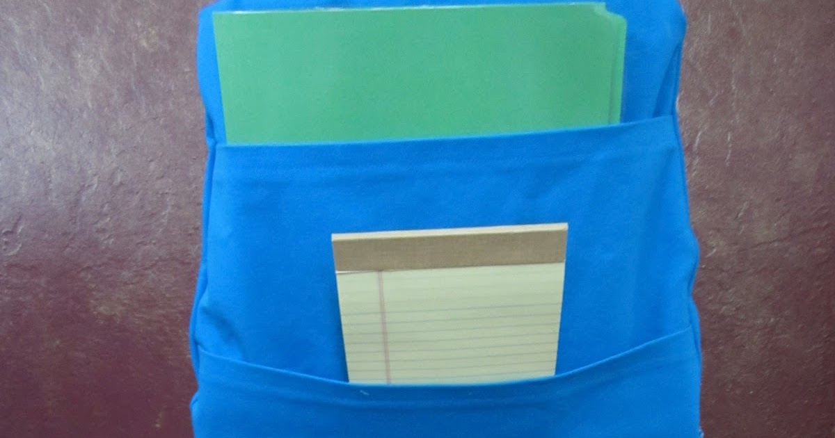 The Lower Elementary Cottage: Classroom Chair Pocket Pattern
