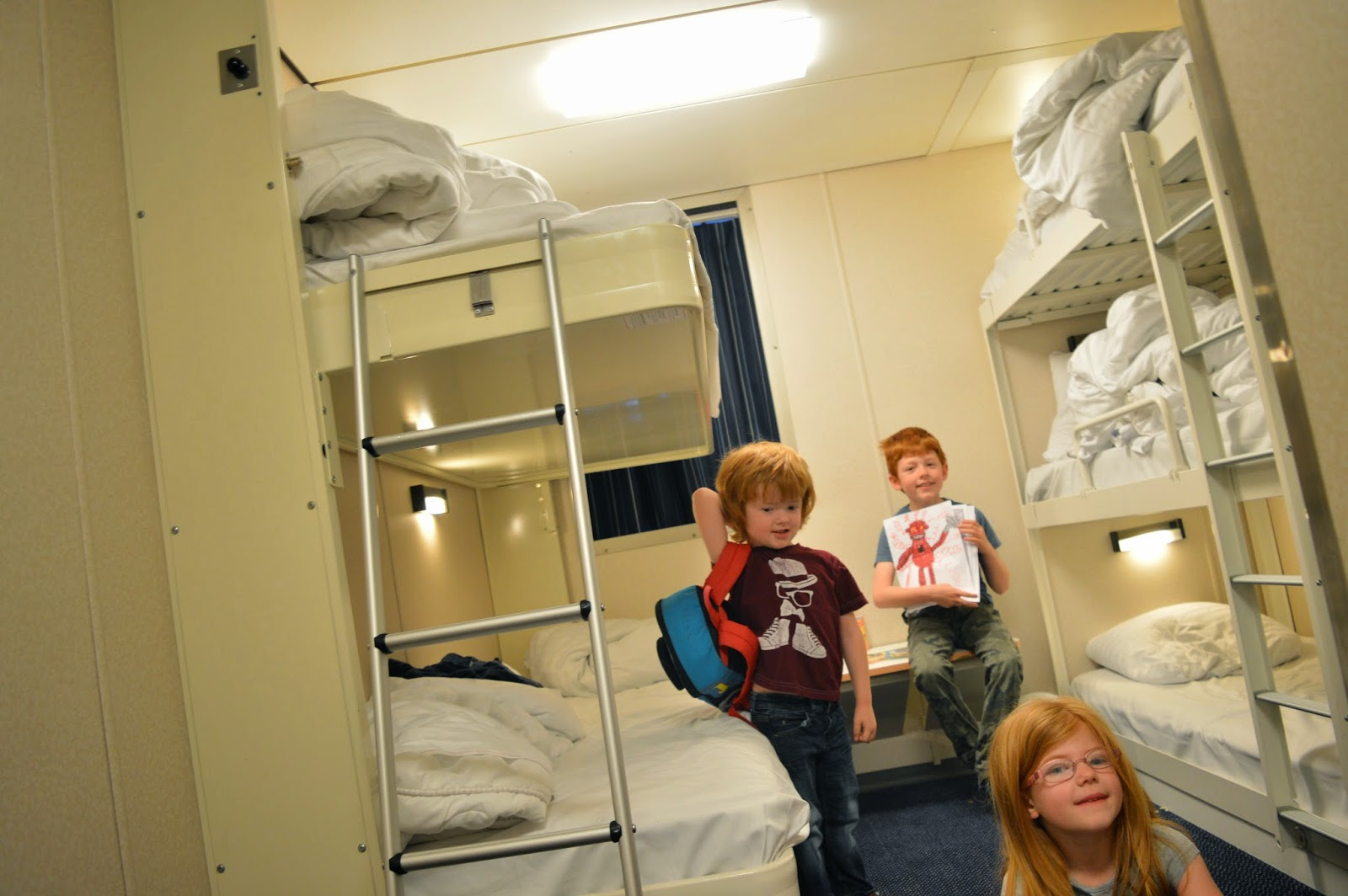 Spending May Half Term in Holland (on a budget) - DFDS 5 berth cabin