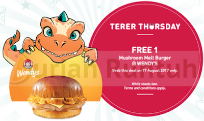 My U Mobile App Terer Thursday Freebie Free Wendy's Mushroom Melt Burger Voucher