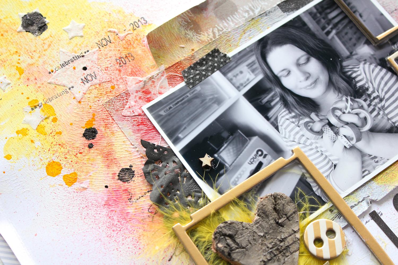 Mixed Media Scrapbooking Layout | Anleitung von Janna Werner