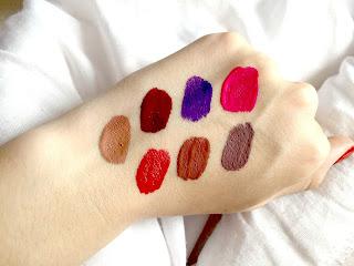 Jeffree Star Velour Liquid Lipstick Swatches