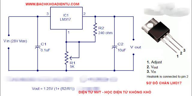 mạch ổn áp sử dụng ic lm317