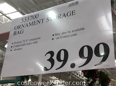 Deal for the Santa's Bags Three Tray Ornament Storage Bag at Costco