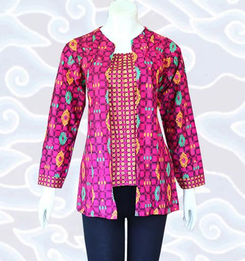 Baju Batik Atasan Wanita Kerja: Model Baju Atasan Batik Modern Untuk Pria Dan Wanita