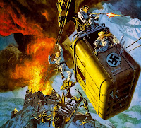 "Poster for ""Where Eagles Dare"" with Richard Burton and Clint Eastwood"