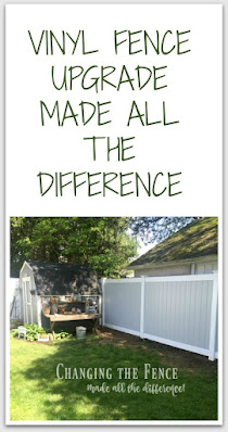 Pinterest pin for vinyl fence