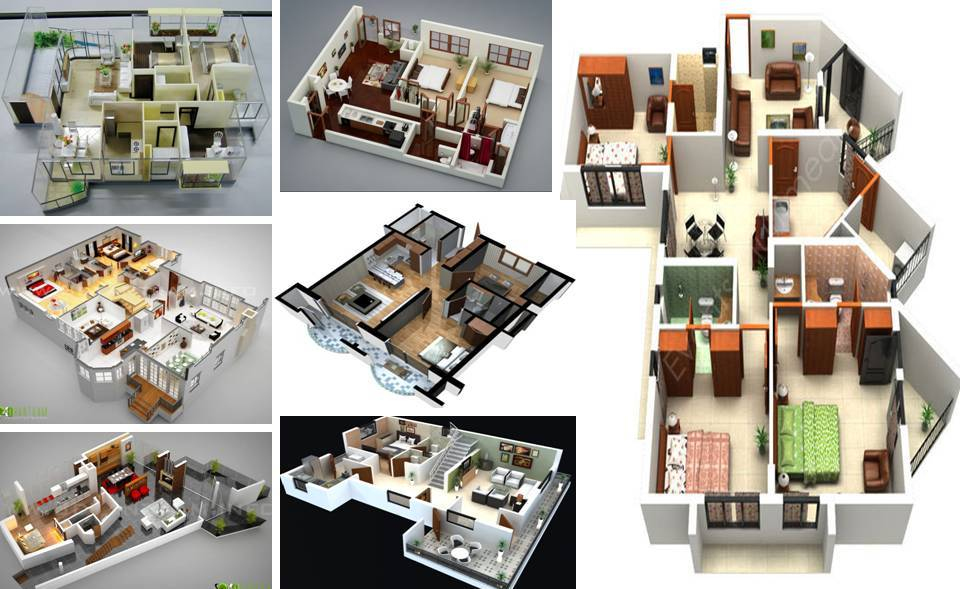 40 inspiring ideas about free 3d floor plans for a good house design - 3d Floor Plan Free